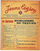 LÉGION FRANÇAISE DES COMBATTANTS Et Des VOLONTAIRES DE LA RÉVOLUTION NATIONALE, JEUNE LÉGION N°21 1er OCT;.1943 - 1900 - 1949