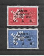 """0,25f + 0,50f Europa De 1961, Surcharge Patriotique """" ALGERIE FRANCAISE 13mai 1958 OAS """" - Neufs"""