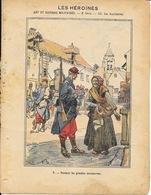 Protège Cahier Fin XIXe: Collection L. Geisler - Les Héroïnes: Art Et Histoires Militaires, 2e Série: Les Auxiliaires - Protège-cahiers