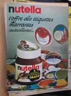 """SPI2020  Issu De Revue SPirou Années 60 / 1 PAGE DE PUBLICITE NUTELLA AUTOCOLLANTS ETIQUETTES """"MARRANTES"""" - Publicités"""