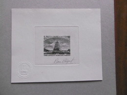TAAF  PA53  * *  EXPEDITION DU CHALLENGER EPREUVE DE LUXE SIGNEE  PIERRE BEQUET - Imperforates, Proofs & Errors