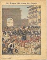 Protège Cahier Fin XIXe: Collection C. Charier: La France Libératrice Des Peuples (Milan 1859) - Illustration Méjanet - Protège-cahiers