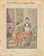 Protège Cahier Fin XIXe: Collection C. Charier: La Civilité Et Le Savoir-Vivre (correspondance) - Illustration Méjanet - Copertine Di Libri