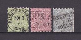 Norddeutscher Postbezirk - 1869 - Michel Nr. 19+21/22 - Gest. - 33 Euro - Conf. De L' All. Du Nord