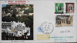 FDC. - 1962 ETAT ALGERIEN NAISSANCE De L'ETAT - Surchargé EA - Daté 4.7.1962 - BE - Algerije (1924-1962)