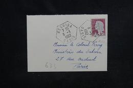 """ALGÉRIE - Oblitération """" Reguida Oasis """" Sur Petite Enveloppe En 1962 Pour Paris -  L 51900 - Algérie (1924-1962)"""