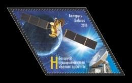 Belarus 2016 Mih. 1111 Space. Satellite BelInterSat-1 MNH ** - Bielorussia