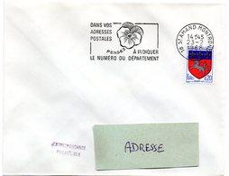 CHER - Dépt N° 18 = St AMAND MONTROND 1968 = FLAMME SECAP ' PENSEZ à INDIQUER NUMERO DEPARTEMENT ' - Codice Postale
