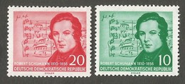 East Germany/DDR. 1956 The 100th Anniversary Of The Death Of Robert Schumann. SG E266-267. CV £10.75. MNH - [6] Repubblica Democratica