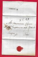 PREFILATELICA - PONTIFICIO - 1817 - Lettera Con Testo ASCOLI TREVI - Bollo Postale E Datario - Italia