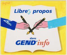SAVIGNAC  - Gendarmerie SIRPA Affiche Libres Propos Campagne Ministère Défense - CPM 10,5x12,5 TBE 1997 Neuve - Savignac