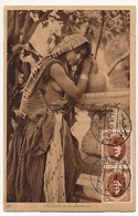 CPA - EGYPTE - Fillette à La Fontaine - Timbrée Coté Vue - Port Saïd - 1927 - Personas