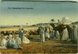 AFRICA - LIBYA -CAMPEMENT DE NOMADES - EDIT LEHNERT & LANDROCK - 1910s (BG7472) - Libye