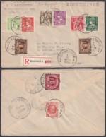 Belgique - Lettre COB 192+317+335/40+192+317 En Recom. De Schaerbeek 01/VI/1932 Vers Dedham (RD400)DC5913 - 1932 Ceres Und Mercure