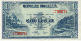Indonesia 1 Rupian 1951 Pick 38 UNC - Indonésie