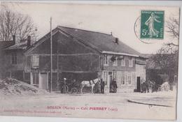 SOUAIN (Marne) - Café Pierret 1907 - Attelage De Cheval - France