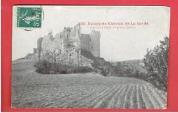 CHATEAU DE LA GARDE 1909 PRES SAINT CHELY D APCHER CARTE EN TRES BON ETAT - Autres Communes