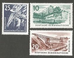 East Germany/DDR. 1957 Coal Mining. SG E305-307. CV £3.75. MNH - [6] Repubblica Democratica