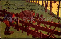 Austria Comic Humor Artist Signed R. Pick Hunter  Postcard - W5-1268 - Otros Ilustradores
