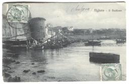 Sardegna Alghero Bastione Porto Barche Viaggiato  1912 - Andere Steden