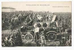 69 Rhone Vendanges En Beaujolais En Auto Tacot Voiture Coll Lamarsalle Villefranche - Villefranche-sur-Saone