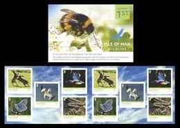 Isle Of Man 2019 Mih. 2460/64 Isle Of Man Wildlife. Fauna. Hares. Butterflies. Birds (booklet) MNH ** - Man (Insel)