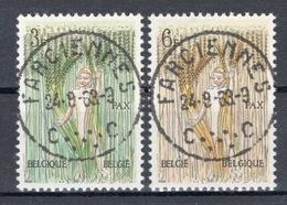BELGIE: COB 1251/1252 Mooi Gestempeld. - Gebraucht