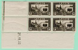 N°YT 128 Bloc De 4** Avec Coin Daté - Maroc (1891-1956)