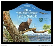Russia 2017 Mih. 2373 (Bl.146II) Barguzinsky Biosphere Nature Reserve (with Overprint Year Of Ecology) MNH ** - Nuevos