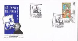 35646. Carta Exposicion GERONA (Girona) 1999. Expo Fires. Catedratico Josep Mª Taberner - 1931-Hoy: 2ª República - ... Juan Carlos I