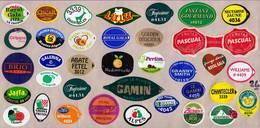 Etiquettes De Fruits °_ Toutes Différentes Sur Papier Siliconé-feuillet N° 26 - Fruits Et Légumes