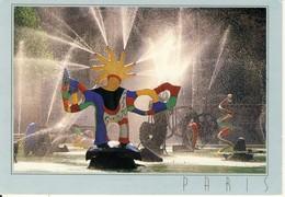 Paris Fontaine à Beaubourg  Sculpture De Niki De Saint Phalle    Cpsm Format 10-15 - Places, Squares