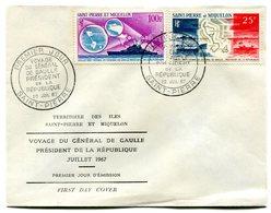 Thème Général De Gaulle - SPM Yvert PA 38 & 39 Voyage De Juillet 1967 - R 4794 - De Gaulle (Generale)