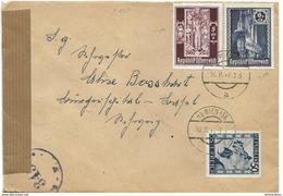 150 - 24 - Enveloppe Envoyée De Vienne 1947 - Censure - 1945-.... 2nd Republic