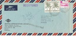 Bangladesh Registered Air Mail Cover Sent To Denmark 30-5-1979 - Bangladesh