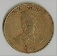 ZAÏRE / 10 ZAIRES / 1988 - Zaire (1971 -97)