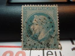 Timbre Empire Français 20 C. Napoléon III  Lauré. Oblitéré. - 1863-1870 Napoléon III Lauré