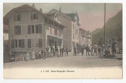 Cpa Saint Gingolph Suisse Douane 1911 Ed Jullien Frères Genève - Dogana