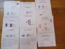 Lot De + De120 Feuilles Distribuees Aux Ecoles Par Le Ministere Des PTT 1982 A 1984 - Frankreich