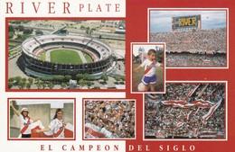 RIVER PLATE, EL CAMPEON DEL SIGLO. FUTBOL FOOTBALL. ARGENTINA MULTIVISTA CARTE POSTALE CIRCA 2000's -LILHU - Soccer
