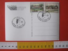 A.10 ITALIA ANNULLO - 2001 BIELLA ANDIAMO AL PIAZZO ARTE CULTURA TORRIONE TORRE CASTELLO CASTLE MEDIOEVO CARD CAMION AIR - Altri