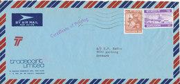 Bangladesh Registered Air Mail Cover Sent To Denmark 21-11-1975 - Bangladesh