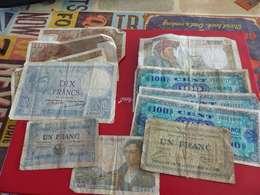 Lot De 10 Billets Francais, 1,5,10,50 Et 100 Francs - Monedas & Billetes