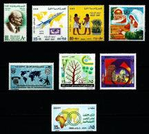 Egipto LOTE (7 Series Aéreo) Nuevo** - Blocks & Sheetlets