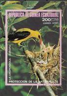 Guinea Equatoriale 1976 Bf. 237B Birds Oropendola Rigogolo Oriolus Sheet Imperf. CTO - Guinea Equatoriale