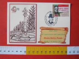 A.10 ITALIA ANNULLO - 2011 BIELLA MOSTRA 150 ANNI UNITA' SENATORE ROSAZZA PISTOLET PATRIOTA BENEFATTORE CAPPELLO BARBA - Costumi