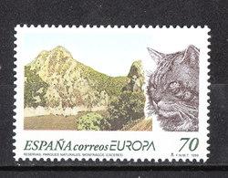 Spagna - 1999. Parco Naturale E Testa Di Gatto. Natural Park And Cat Head. MNH - Gatti
