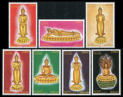 297- Laos 2005  YT 1580-86 ; Mi# 1956-62 **  MNH  Weekday Buddha Figures - Laos