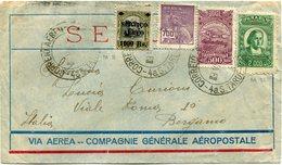 BRESIL LETTRE VIA AEREA  -- COMPAGNIE GENERALE AEROPOSTALE DEPART DU BRESIL 9 VII 32 POUR L'ITALIE - Luchtpost