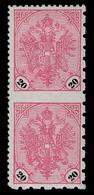 "BOSNIA-AUSTRIA,""COAT Of ARMS"" Heller Issue, Black Figures Value Of 20 Heller, IMPERFORATE In BETWEEN 1901 RARE!!!!! - Unused Stamps"